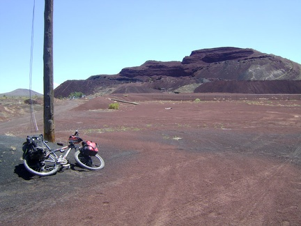 I arrive at the site of the abandoned Aiken Mine, park the 10-ton bike and go for a walk