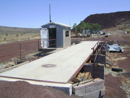 Weigh station at the abandoned Aiken Mine, Mojave National Preserve