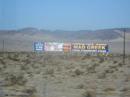 After leaving Barstow, heading toward Baker (and then Las Vegas afterward)