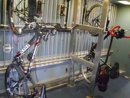 Another bike shared the bike rack with me aboard the Amtrak San Joaquin train yesterday