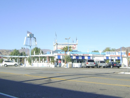 Across the road from the Big Boy restaurant sits the sprawling Mad Greek, where I had supper last night