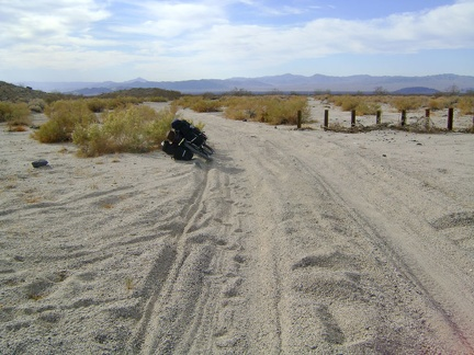 At 17-Mile Point, my road meets up with the old Mojave Road