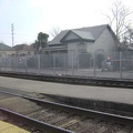 Across the tracks from the Stockton Amtrak station is an old house that looks abandoned, but isn't