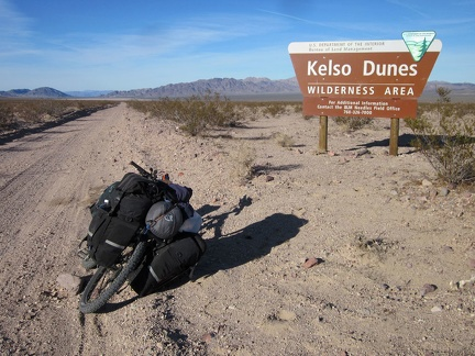 Also along Crucero Road is this BLM Kelso Dunes Wilderness sign