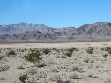 I take a look back at Broadwell Dry Lake and the Cady Mountains as I make my way up the fan
