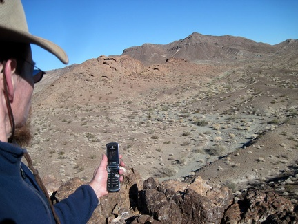I have cell-phone reception here at Broadwell Natural Arch, so I check and send a few text messages