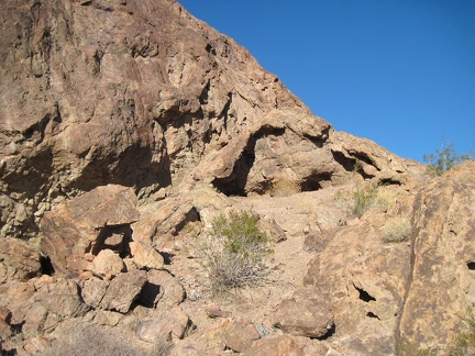 I scramble around, checking out a few more mini-caves, then decide it's time to check out and resume my hike