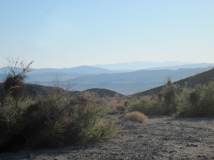 The hike out of the Kelso Dunes Wilderness Area back down to Broadwell Dry Lake begins in earnest