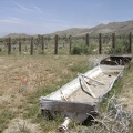 Old cattle-watering trough in the abandoned corral below Butcher Knife Canyon, Mojave National Preserve