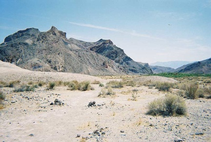 The trail on the east side of the Amargosa River heading south away from China Ranch