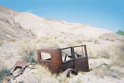 An old truck near the Amargosa River