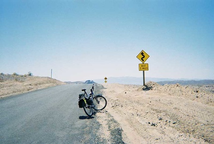 I've read about the steep downhill on the China Ranch Road here, but I haven't seen it yet