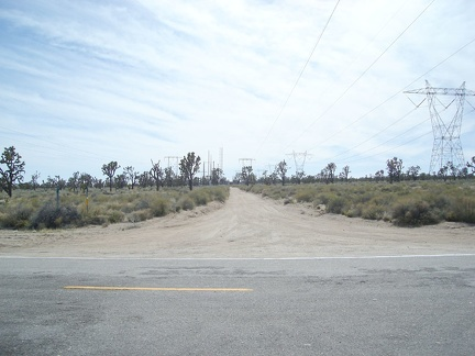About 1.5 miles before reaching the Cima Store, I pass that power-line road again that crosses Mojave National Preserve