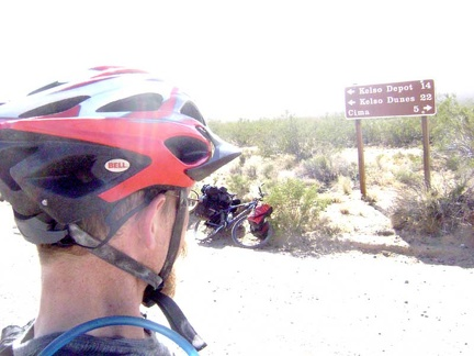 I start the 19-mile ride down Kelso-Cima Road to Kelso Depot and stop after 5 miles at the junction of Cedar Canyon Road
