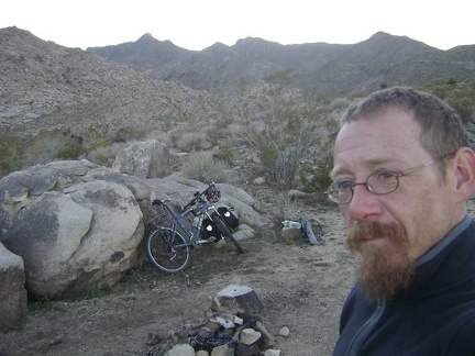 I exit the Wilderness boundary and return to my bike at the Coyote Springs campsite