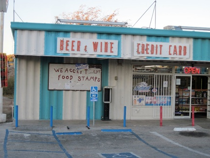 Off the freeway after a couple of miles, I know I've landed in central Barstow when I pass a liquor store