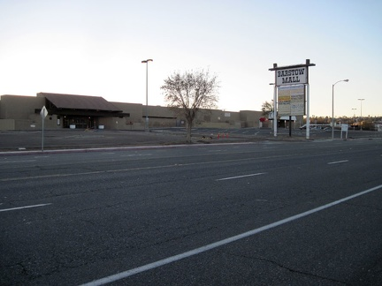 I remember passing the dead Barstow Mall at the beginning of this trip; I'm still intrigued by it