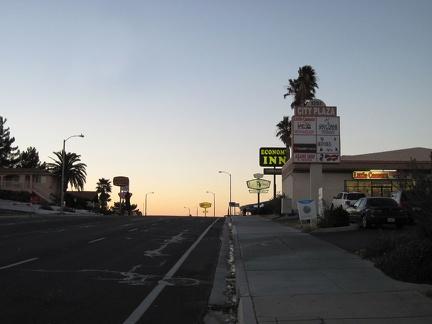 I ride through Barstow's motel district on my way to the old-school Route 66 Motel where I'll stay again tonight