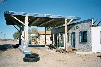 Abandoned café and gas station at Essex