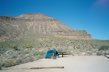 One final view of my campsite at Hole-in-the-Wall campground, Mojave National Preserve, before I pack up and leave