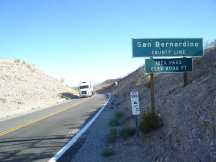 Heading back to Baker from Tecopa Hot Springs, I pass over the summit of Ibex Pass on Highway 127