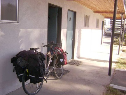 The 10-ton bike is packed up and ready to go to Mojave National Preserve on Xmas day