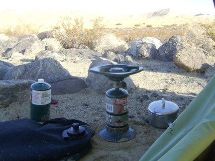 I make my last two cups of strong coffee of the trip and enjoy the views while I procrastinate the task of breaking camp