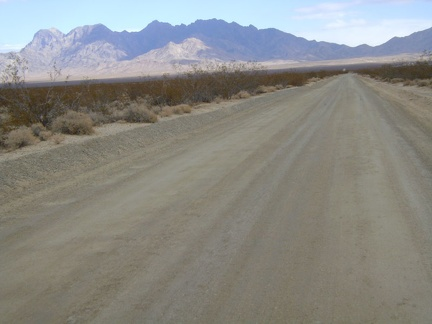 The last couple miles up Kelso Dunes Road is enjoyable with the view toward Providence Mountains in my face