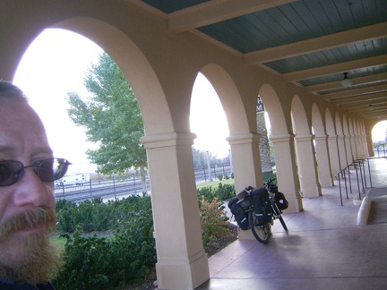 I've taken this photo several times in the past with the 10-ton bike under the Kelso Depot porch