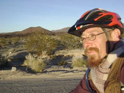 Pedalling down past those famous Mojave National Preserve cinder cones