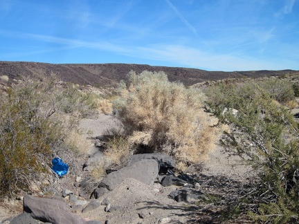 Ah ha, I spot another stray balloon as I hike in the wash toward the south end of Broadwell Mesa