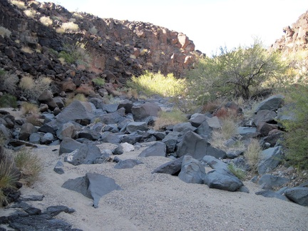 I continue hiking up the wash beyond the dry waterfall, feeling like I've entered an unexplored land