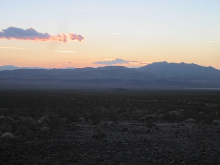 The sun goes down for good behind the Cady Mountains, not to be seen again until tomorrow