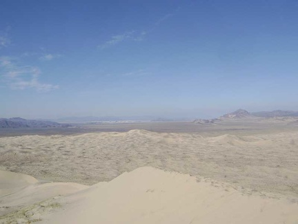 On top of Kelso Dunes, I'm taking in the views of this end of Mojave National Preserve