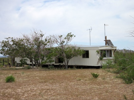 One of the buildings remaining at the OX Ranch site is this mobile home