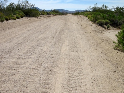 Some stretches of Cedar Canyon Road have significant sand accumulation, in addition to being washboarded