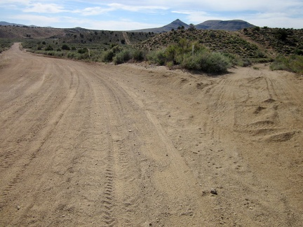 As I approach Watson Wash on Cedar Canyon Road, I pass a turn-off to an old alignment of the 4WD Mojave Road