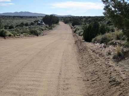 After my visit to the Bert Smith rock house, I continue riding westward on the washboard of Cedar Canyon Road