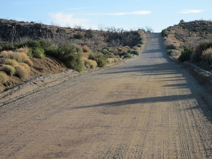 A couple of short steep hills on the final stretch on Wild Horse Canyon Road toward Mid Hills campground always get me