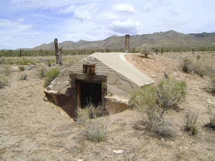 A dugout at Thomas Place, Mojave National Preserve