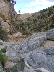 I continue the scenic descent down Seep Canyon