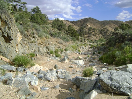 I near the bottom of Seep Canyon and the canyon widens a bit