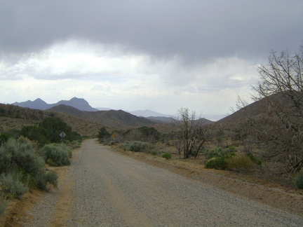 The fun ride down Wild Horse Canyon Road looks different today with the ominous clouds hovering above the Mid Hills