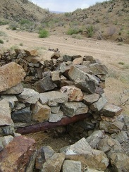 I pull over along Macedonia Canyon Road to examine what's left of an old foundation