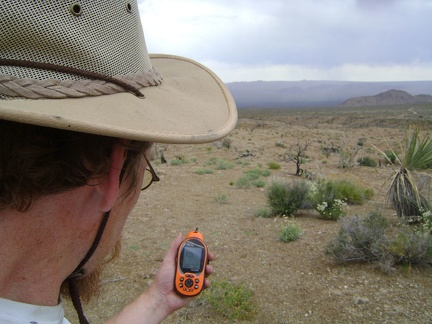 Up on a hill in the Macedonia Canyon valley, I stop to check my maps and GPS
