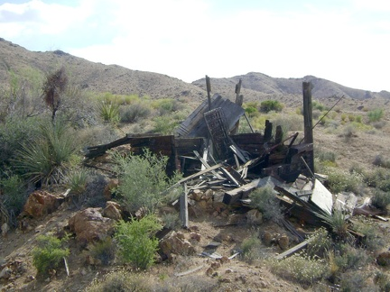 One of several debris piles near the cabin in Macedonia Canyon, Mojave National Preserve