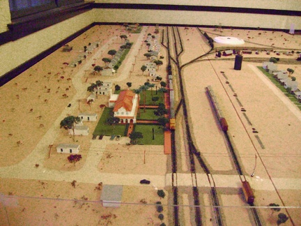 Downstairs in Kelso Depot is a model that shows how Kelso was back in the 1940s