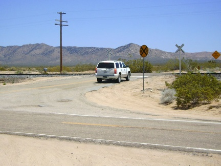 While at Cedar Canyon Road junction, I notice an indecisive SUV, so I go speak to its driver; maybe he needs directions