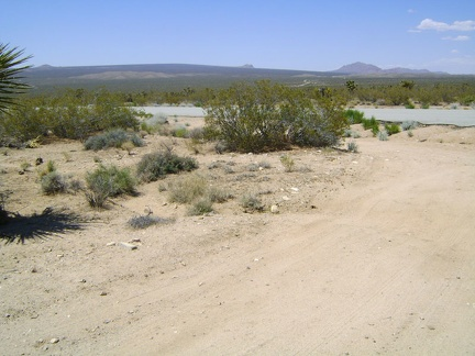 I pull in at the road to Chicken Water Spring and try my cell phone; it works here as hoped