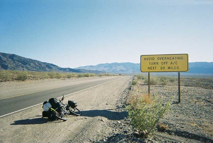 I leave the heat of Stovepipe Wells and head up Highway 190 toward Emigrant Campground